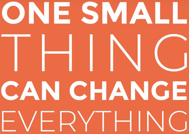 One small thing can change everything